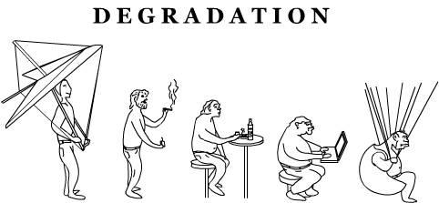 Отличия деградации от регресса